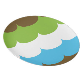 Mint & Chocolate waves Dinner Plate