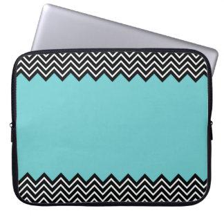 Mint Color Block Chevron Laptop Sleeve