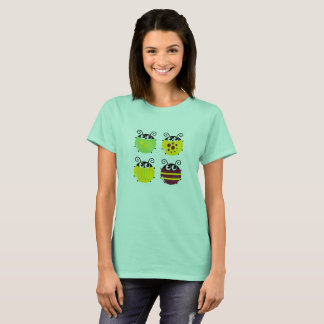 Mint color lady designers tshirt with Bugs