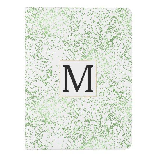 Mint Confetti Dots Monogram Extra Large Moleskine Notebook