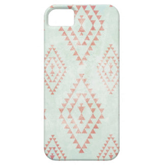 mint & coral tribal pattern barely there iPhone 5 case