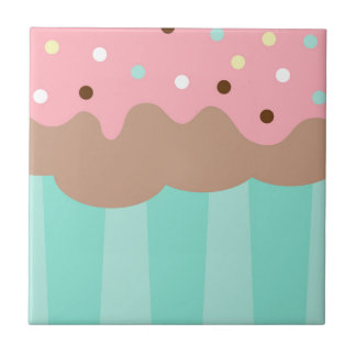 Mint Cupcake Tile