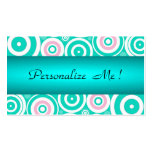 Mint Cute Trendy Green Girly Wedding Polka Dots Business Cards