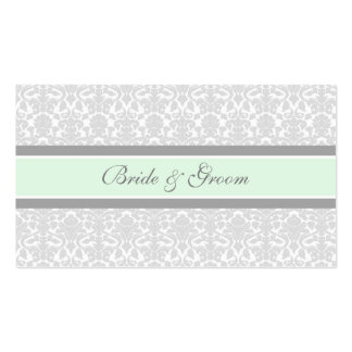 Mint Damask Wedding Table Place Setting Cards Pack Of Standard Business Cards
