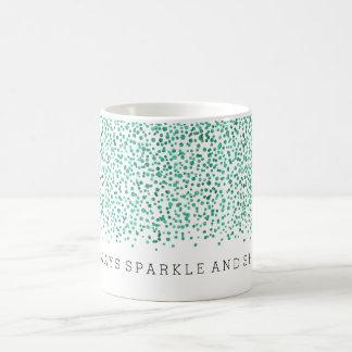 Mint Dazzle Confetti Sparkle and Shine Basic White Mug