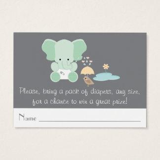 Mint Elephant Little Bird Diaper Raffle Tickets