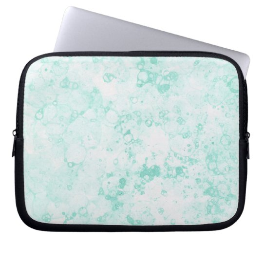 Mint Explosion Abstract Laptop Sleeve