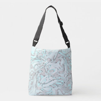 Mint faux marble texture crossbody bag