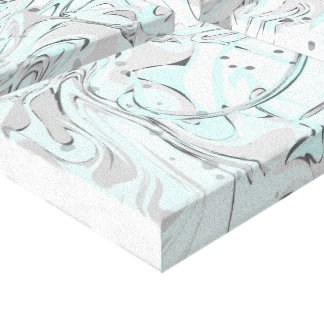 Mint faux marble texture for trendy house interior canvas print