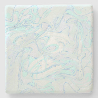 Mint faux marble texture stone coaster