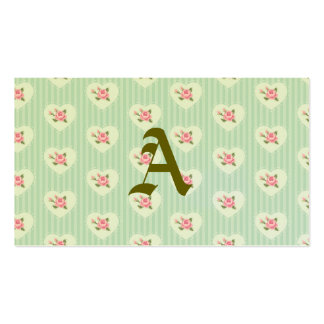 mint,floral,red,shabby chic,victorian,vintage,rose pack of standard business cards