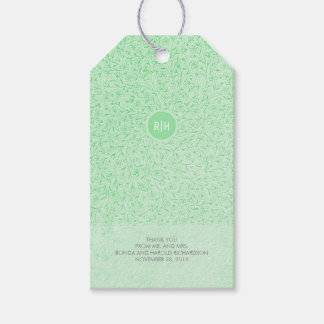 Mint Floral Vintage Monogram Wedding