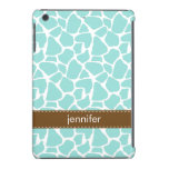 Mint Giraffe Pattern iPad Mini Retina Cases