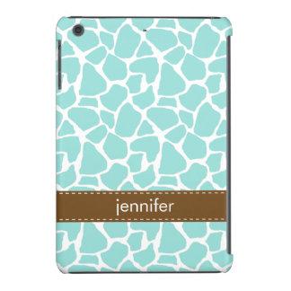 Mint Giraffe Pattern iPad Mini Retina Cases