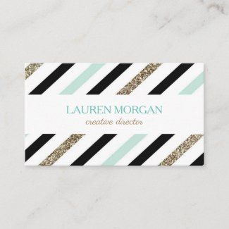 Mint Gold Business Card