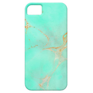 Mint & Gold Marble Abstract Aqua Teal Painted Look Barely There iPhone 5 Case