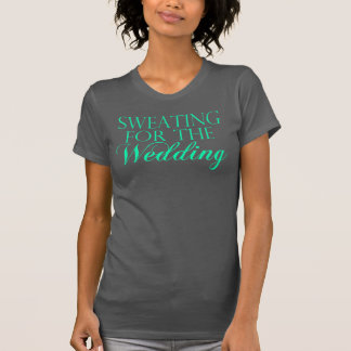 Mint & Gray Sweating For The Wedding. Singlet T-Shirt