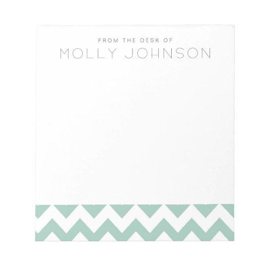 Mint Gree Chevron Bridesmaid Gift Notepad