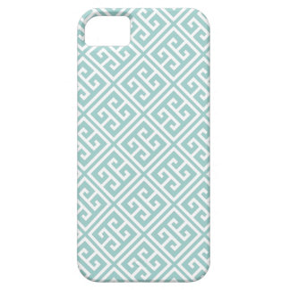Mint Greek Key Pattern Barely There iPhone 5 Case
