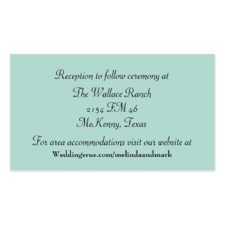 Mint Green and Chevron Wedding Enclosure Card Pack Of Standard Business Cards