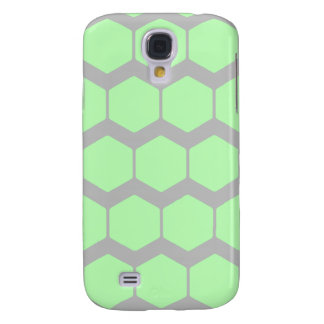 Mint Green and Gray, Retro Geometric Pern. Galaxy S4 Case