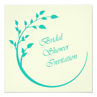 Mint Green and Ivory Bridal Shower Invitation