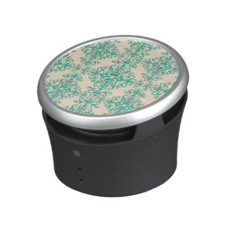 Mint Green and Off White Damask Style Pattern Speaker