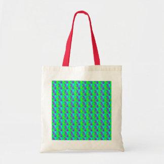 Mint Green And Purple Neon Glow Patterns