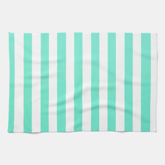Mint Green And Vertical White Stripes Patterns Tea