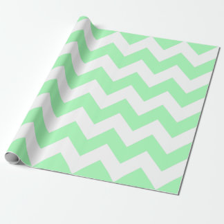 Mint Green and White Chevron Wrapping Paper