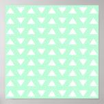 Mint Green and White Geometric Pattern.