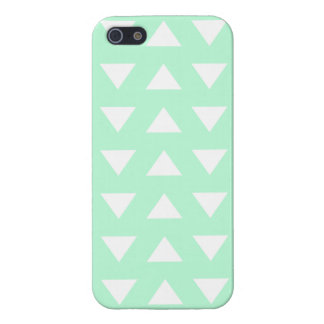 Mint Green and White Geometric Pattern. Cover For iPhone 5/5S