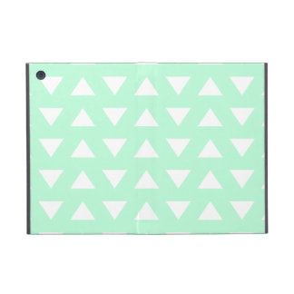 Mint Green and White Geometric Pattern. iPad Mini Cover