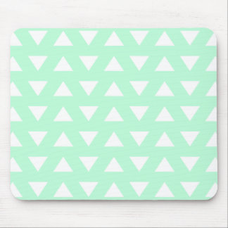 Mint Green and White Geometric Pattern. Mouse Mat