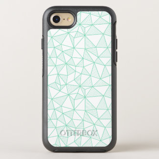 Mint Green and White Modern Geometric Pattern OtterBox Symmetry iPhone 8/7 Case