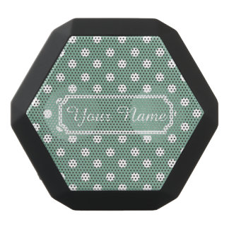 Mint Green and White Polka Dots Personalized Black Boombot Rex Bluetooth Speaker
