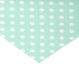 mint green and white polka dots tissue paper