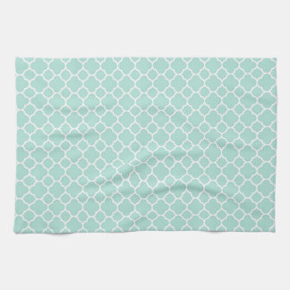 Mint Green and White Tea Towel