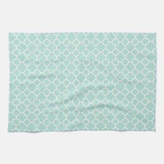 Mint Green and White Tea Towel