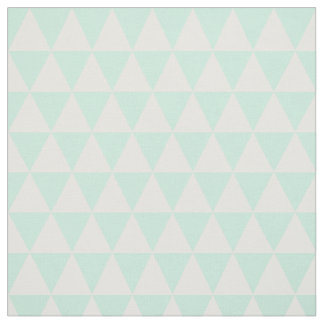 mint green and white triangles fabric