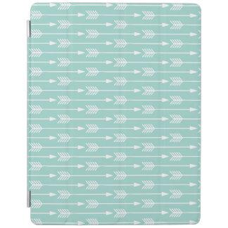 Mint Green Arrows Pattern iPad Cover