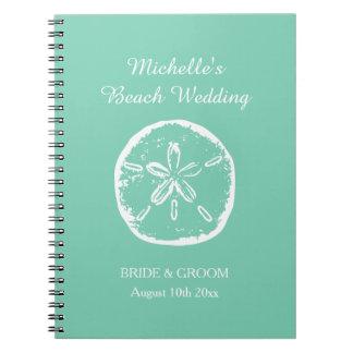 Mint green beach wedding organizer planner book