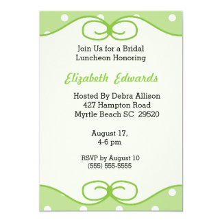 Mint Green Bridal Luncheon Invitation