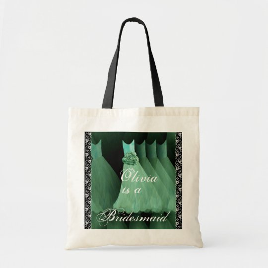 MINT GREEN Bridesmaid Dresses Cotton Tote Bag