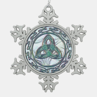 Mint Green Celtic Trinity Knot Christmas Ornament
