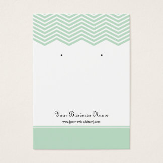 Mint Green Chevron Custom Earring Display Card
