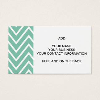 Mint Green Chevron Pattern 2 Business Card