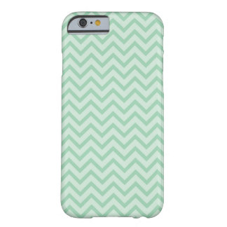 Mint Green Chevron Pattern Barely There iPhone 6 Case