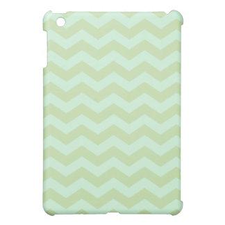 Mint Green Chevron Pattern iPad Mini Cover