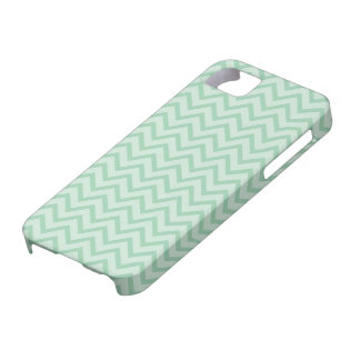 Mint Green Chevron Pattern iPhone 5 Covers